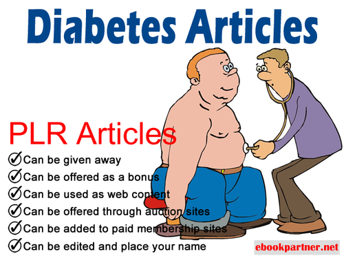 Product picture 100 over Diabetes Quality PLR Articles
