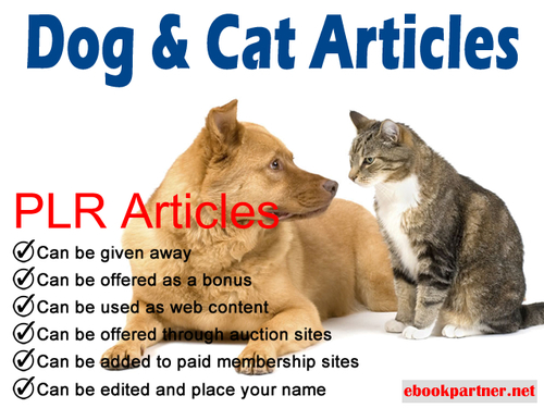 Product picture 800 over Dogs and Cats Quality PLR Articles
