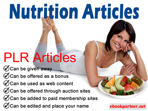 Product picture 500 over Nutrition Quality PLR Articles